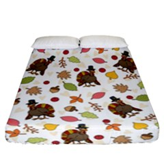 Thanksgiving Turkey Pattern Fitted Sheet (california King Size)