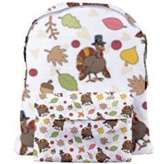 Thanksgiving Turkey Pattern Giant Full Print Backpack by Valentinaart