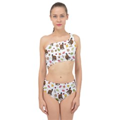 Thanksgiving Turkey Pattern Spliced Up Two Piece Swimsuit