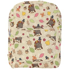 Thanksgiving Turkey Pattern Full Print Backpack