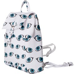 Blue Eyes Pattern Buckle Everyday Backpack by Valentinaart