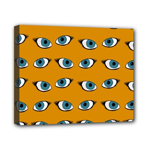 Blue Eyes Pattern Canvas 10  X 8  (stretched) by Valentinaart