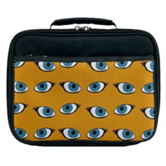 Blue Eyes Pattern Lunch Bag by Valentinaart