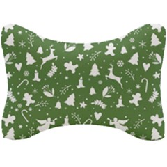 Christmas Pattern Seat Head Rest Cushion by Valentinaart