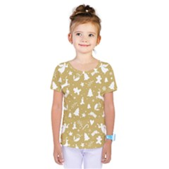 Christmas Pattern Kids  One Piece Tee