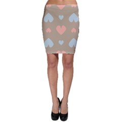 Hearts Heart Love Romantic Brown Bodycon Skirt