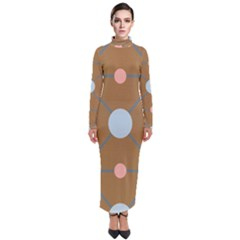 Planets Planet Around Rounds Turtleneck Maxi Dress