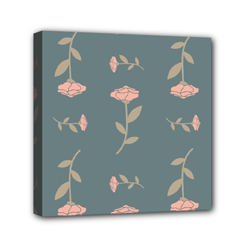 Florets Roses Rose Flowers Flower Mini Canvas 6  X 6  (stretched)
