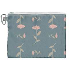 Florets Roses Rose Flowers Flower Canvas Cosmetic Bag (xxl)