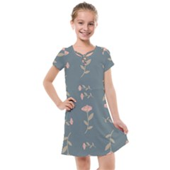 Florets Roses Rose Flowers Flower Kids  Cross Web Dress by Sapixe