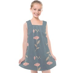 Florets Roses Rose Flowers Flower Kids  Cross Back Dress by Sapixe