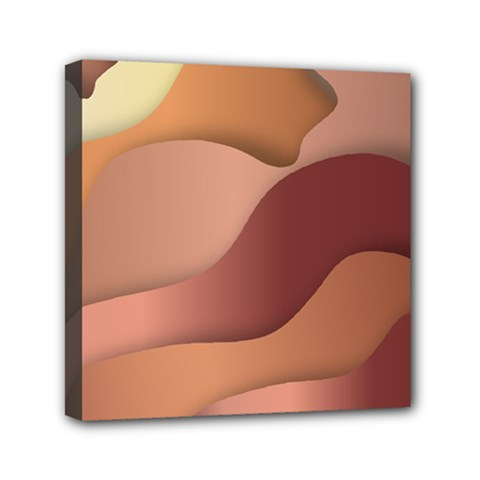 Autumn Copper Gradients Copyspace Mini Canvas 6  X 6  (stretched) by Sapixe