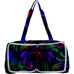 Swirl Background Design Colorful Multi Function Bag