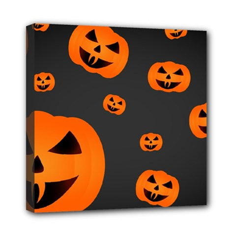 Halloween Pumpkin Autumn Fall Mini Canvas 8  X 8  (stretched) by Sapixe