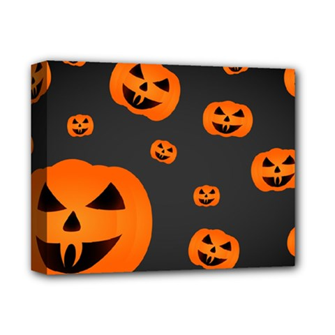 Halloween Pumpkin Autumn Fall Deluxe Canvas 14  X 11  (stretched)
