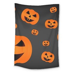 Halloween Pumpkin Autumn Fall Large Tapestry by Sapixe