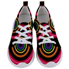 Neon Light Abstract Pattern Lines Women s Lightweight Sports Shoes