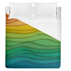 Background Waves Wave Texture Duvet Cover (queen Size)