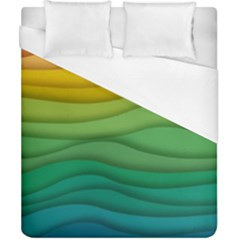 Background Waves Wave Texture Duvet Cover (california King Size) by Sapixe