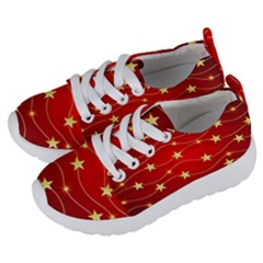 Stars Background Christmas Decoration Kids  Lightweight Sports Shoes by Sapixe