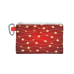 Stars Background Christmas Decoration Canvas Cosmetic Bag (small)