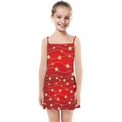 Stars Background Christmas Decoration Kids Summer Sun Dress