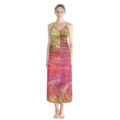 Background Wallpaper Abstract Button Up Chiffon Maxi Dress