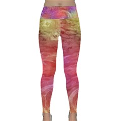 Background Wallpaper Abstract Lightweight Velour Classic Yoga Leggings