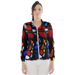 Art Bright Lead Glass Pattern Windbreaker (women)