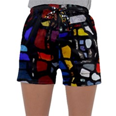 Art Bright Lead Glass Pattern Sleepwear Shorts by Sapixe