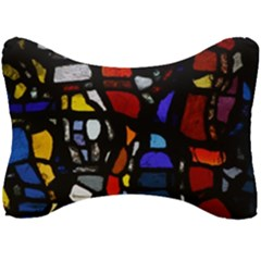 Art Bright Lead Glass Pattern Seat Head Rest Cushion by Sapixe