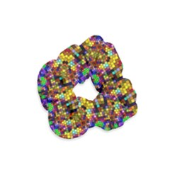 Color Mosaic Background Wall Velvet Scrunchie