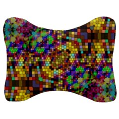 Color Mosaic Background Wall Velour Seat Head Rest Cushion