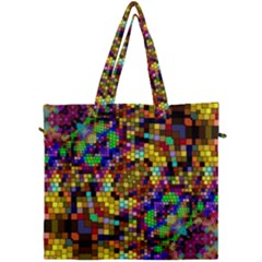 Color Mosaic Background Wall Canvas Travel Bag by Sapixe