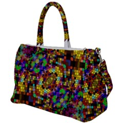 Color Mosaic Background Wall Duffel Travel Bag by Sapixe
