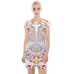 Wallpaper Pattern Colorful Color Cap Sleeve Bodycon Dress