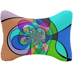 Retro Wave Background Pattern Seat Head Rest Cushion