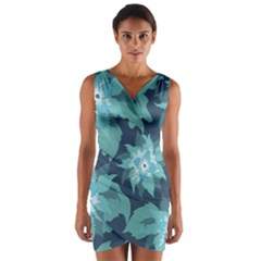 Graphic Design Wallpaper Abstract Wrap Front Bodycon Dress