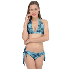 Graphic Design Wallpaper Abstract Tie It Up Bikini Set by Sapixe