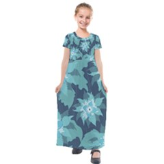Graphic Design Wallpaper Abstract Kids  Short Sleeve Maxi Dress by Sapixe