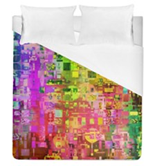 Color Abstract Artifact Pixel Duvet Cover (queen Size)