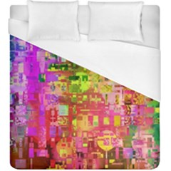 Color Abstract Artifact Pixel Duvet Cover (king Size) by Sapixe