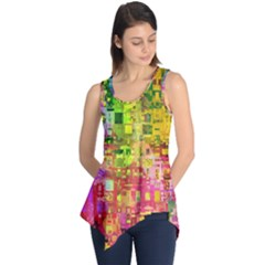 Color Abstract Artifact Pixel Sleeveless Tunic