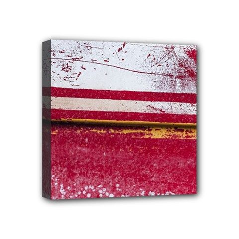 Boat Chipped Close Up Damaged Mini Canvas 4  X 4  (stretched) by Sapixe