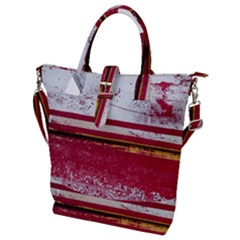 Boat Chipped Close Up Damaged Buckle Top Tote Bag