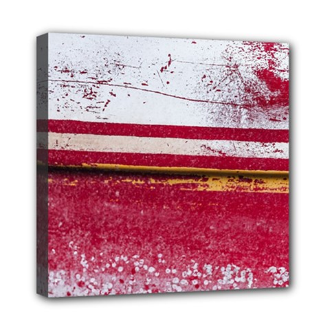 Boat Chipped Close Up Damaged Mini Canvas 8  X 8  (stretched) by Sapixe