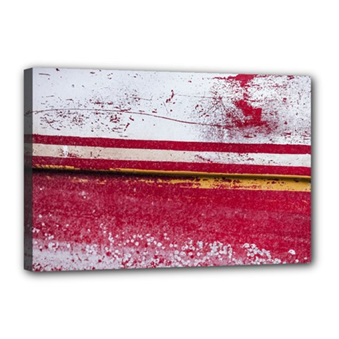 Boat Chipped Close Up Damaged Canvas 18  X 12  (stretched) by Sapixe