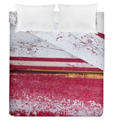 Boat Chipped Close Up Damaged Duvet Cover Double Side (queen Size)