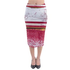 Boat Chipped Close Up Damaged Midi Pencil Skirt
