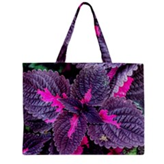 Beefsteak Plant Perilla Frutescens Zipper Mini Tote Bag